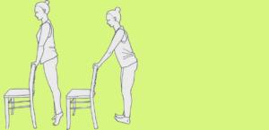 Mobiliserung am Stuhl stehend, Venenpumpe aktivieren