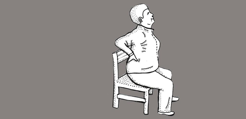 Rückbeuge Yoga im Sitzen