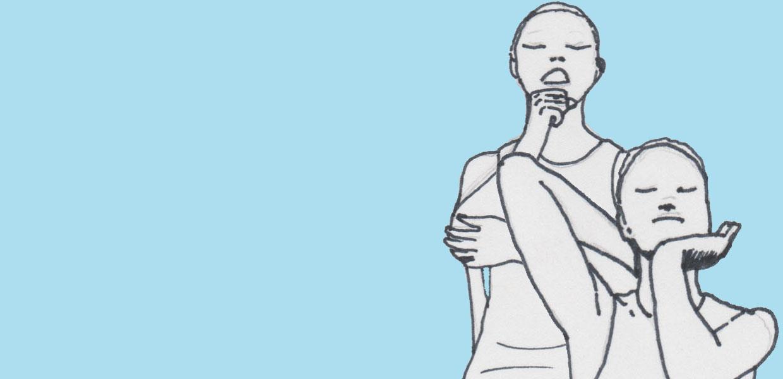 Titelbild für die Yoga Übungsreihe im Sitzen für Kiefer und Nacken/ Knirschen