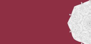Mandala vor Beerenfarbenem Hintergrund