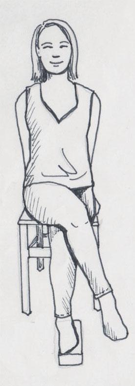 Gomukhasana im Sitzen: Ausgangsposition