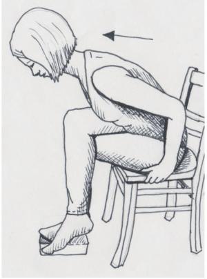Gomukhasana für das Üben auf dem Stuhl