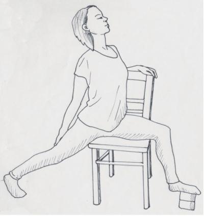 Friedlicher Krieger für das Yoga im Sitzen