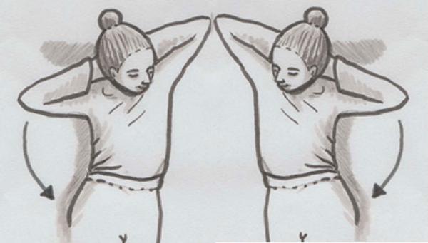 Fasziale Selbstmassage des Rückens mit Ball und seitlicher Gelenkbeteiligung der Flanke