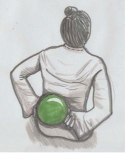 Fasziale Selbstmassage großflächige Behandlung des unteren Rückens