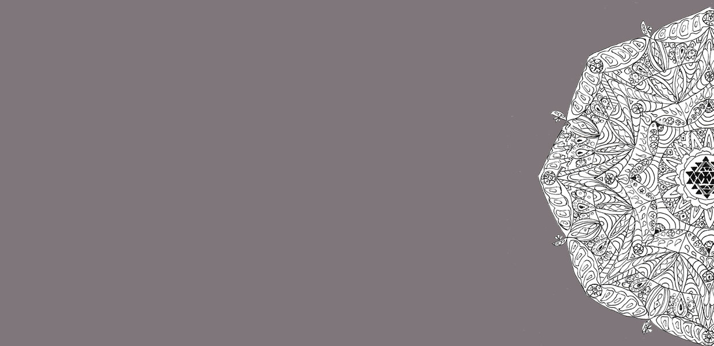 Mandala vor dunkelgrauem Hintergrund