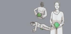 Fasziale Selbstmassage mit großem Ball für das großflächige Behandeln