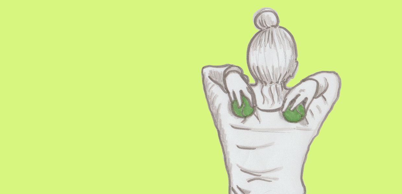 Titel-Illustration für Faszienmassage der Schultern mittels 2 Tennisbällen