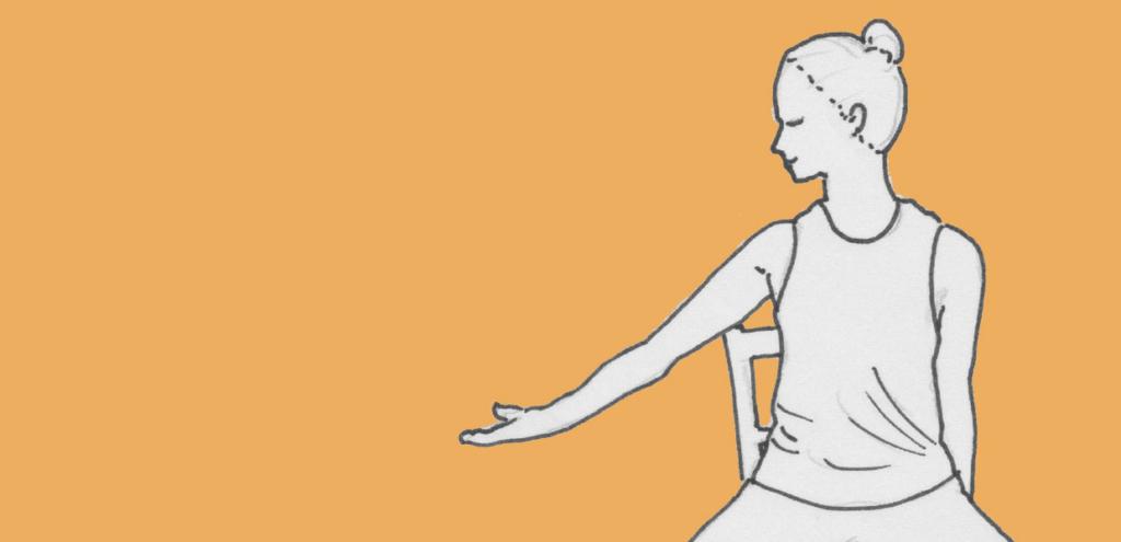 Titelbild für eine Anleitung für Yoga im Sitzen, hier die Ausgangsposition für Shivas Tanz